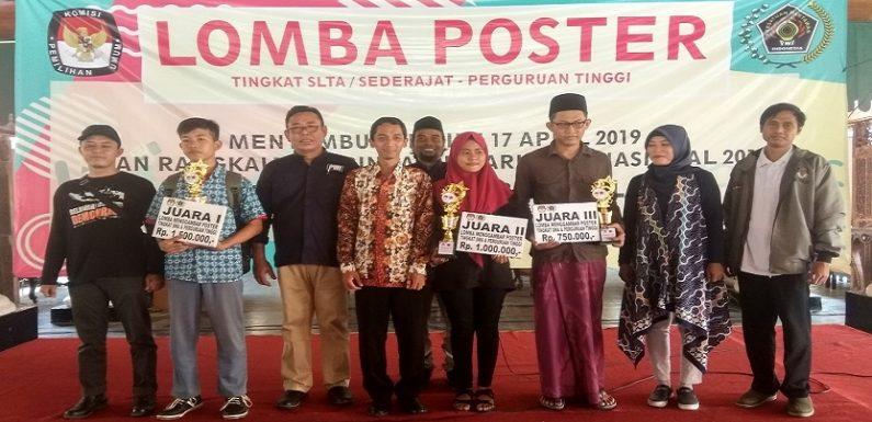 Diikuti Ratusan Peserta, Ini Tiga Pemenang Lomba Menggambar Poster Pemilu
