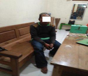 Tersangka pelaku pencuri kotak amal di Masjid jami' Lasem diamankan.