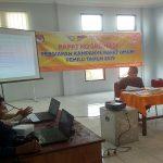 Rapat koordinasi membahas kampanye rapat umum di Sekretariat KPU Kabupaten Rembang, Kamis (21/03).