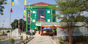 Wajah kantor Inspektorat Kabupaten Rembang yang didominasi warna hijau.