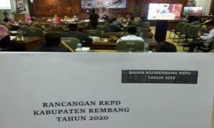 Suasana Musrenbang di Gedung DPRD Rembang, Senin siang (08/04).