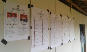TPS Pemilu di Desa Sendangmulyo, Kecamatan Bulu, menggunakan fasilitas rumah warga.