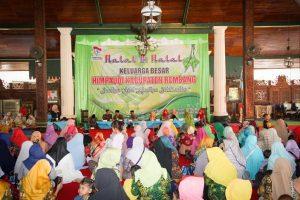 Suasana halal bihalal guru PAUD se Kabupaten Rembang dan penyerahan secara simbolis kunci sekretariat Himpaudi, Kamis (20/06).