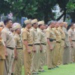 Pegawai negeri atau aparatur sipil negara di Rembang saat mengikuti apel, beberapa waktu lalu.