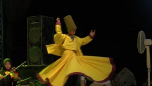 Muhammad Eka Susanto, penari sufi di Desa Sekarsari Kecamatan Sumber yang baru berusia 10 tahun.