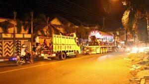 Suasana takbir keliling di Rembang tahun 2018 lalu.