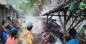 Kondisi TKP kebakaran di Desa Babadan, Kecamatan Kaliori, Jum'at siang.