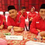 Ridwan (berpeci paling kanan) terpilih secara aklamasi menjadi Ketua DPC PDI Perjuangan Kab. Rembang.