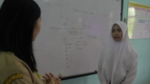 Suasana pembelajaran di SMA N I Rembang, Senin (22/07).