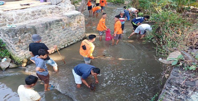 Dua Cara Bersihkan Sungai Pamotan, Kedepan Inginkan Perdes