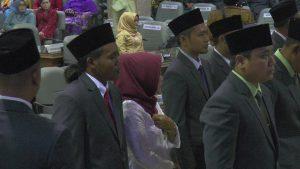 Adi Purwoto, anggota DPRD Rembang dengan gaya rambut paling nyentrik.