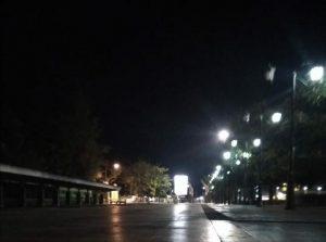 Alun-Alun Rembang berubah sunyi, Kamis malam (01/08).