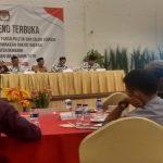 Suasana penetapan kursi partai politik dan calon terpilih anggota DPRD Rembang, di Hotel Gajah Mada, Sabtu (10/08).