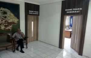 Suasana ruang fraksi DPRD Rembang.