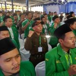 Kader GP Ansor Kabupaten Rembang mengikuti konferensi cabang di Pondok Pesantren Ngisor Waru, Desa Pulo, Rembang, Minggu (18/08).