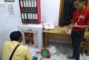 Brankas yang dibobol perampok di mini market Alfamart, Gegunung Wetan, beberapa waktu lalu.