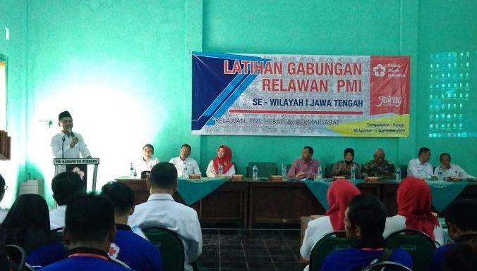 Relawan PMI Se Jawa Tengah Latihan Gabungan, Desa Ini Yang Dipilih Menjadi Lokasinya