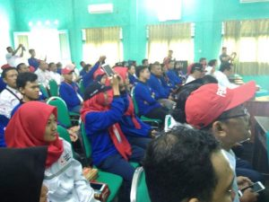 Relawan PMI se Jawa tengah siap mengikuti latihan gabungan. Jum'at (30/08) latihan gabungan resmi dibuka di Rembang.