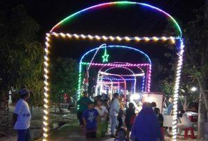 Kemeriahan di jalan kampung Dusun Sugihan Desa Pulo, menyambut HUT Kemerdekaan RI.
