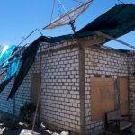 Salah satu rumah warga Desa Sriombo, Kecamatan Lasem yang atap rumahnya rusak tertiup angin kencang, selasa (10/09).