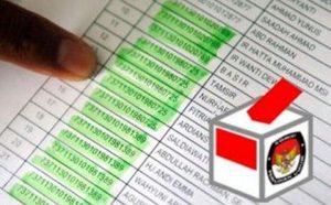 Ilustrasi daftar pemilih.