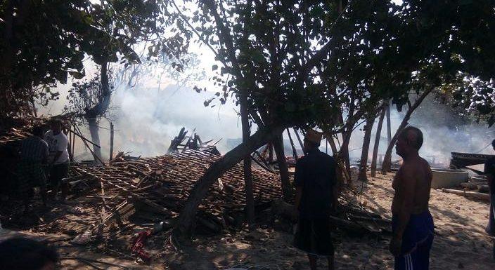 Tanjungan Membara, Total Ada 9 Rumah Terbakar