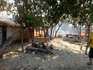 Kebakaran rumah warga di Desa Tanjungan, Kecamatan Kragan, Jum'at siang.