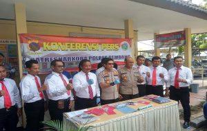 Gelar kasus Narkoba di Mapolres Rembang, Selasa (17 september 2019).