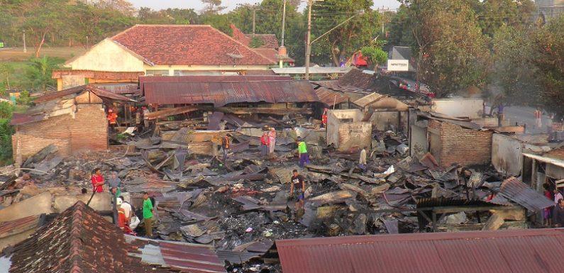 Ditanya Penyebab Kebakaran Pasar Sluke, Ini Tanggapan Polisi
