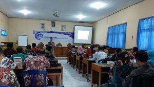 Suasana bimbingan tekhnis peningkatan SDM komunikasi dan kehumasan, yang digelar oleh Diskominfo Kab. Rembang, Kamis (24/10).