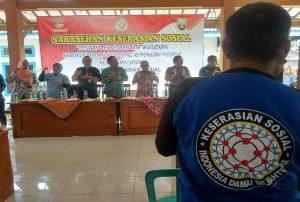 Kegiatan Forum Sarasehan Keserasian Sosial di Balai Desa Meteseh, Kecamatan Kaliori, Kab. Rembang, Kamis (10/10).