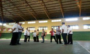 Tim verifikasi dari Provinsi Jawa Tengah mengecek lokasi GOR Mbesi Rembang, Kamis sore (10/10).