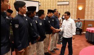 Ketua PWI Jawa Tengah, Amir Machmud memberikan ucapan selamat atas terpilihnya pengurus PWI Kab. Rembang masa bhakti 2019 – 2022, Rabu (23/10).