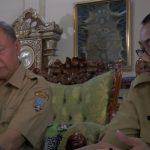Sekda Rembang, Subhakti & Kepala BKD, Suparmin berkoordinasi, terkait persiapan seleksi CPNS.