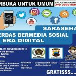 Sarasehan Medsos Sehat-Rembang Bermartabat, akan digelar Senin malam, 25 November 2019.