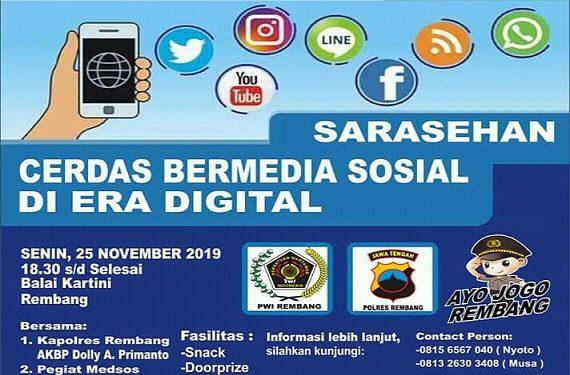 Kampanyekan Medsos Sehat, Polres & PWI Kolaborasi