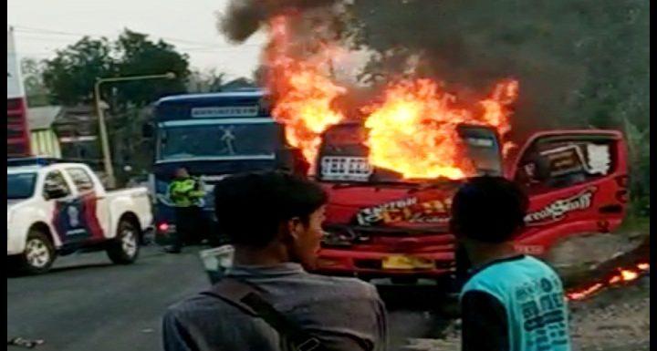 Kasus Pembakaran Truk, Polisi Menahan 2 Tersangka
