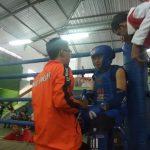 Atlet Muay Thai Kabupaten Rembang saat berlaga.