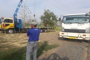 Lokasi untuk pembangunan depo stasiun gas di Dusun Padas Desa Jatihadi Kec. Sumber.