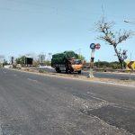 Jembatan Kiringan Lasem. Di sekitar titik ini akan menjadi area crossing jalan lingkar dari Rembang – Lasem.