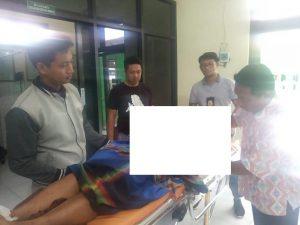 Jenazah korban saat berada di Puskesmas Sarang, Jum'at siang (06/12).