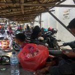 Lokasi parkir, tempat dua korban pembakaran bekerja, di sebelah utara Pasar Rembang, Senin (02/12).