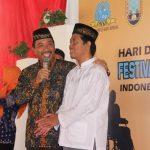 Bupati Rembang, Abdul Hafidz saat berbincang dengan penyandang tuna grahita yang hafal 30 Juz kitab suci Alqur'an.