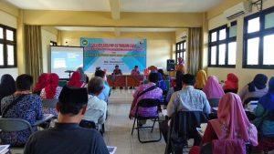 Sosialisasi pembukuan & perpajakan, di kampus STIE YPPI Rembang, Selasa (24/12).