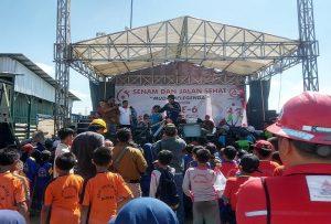 Keramaian merayakan HUT ke-6 PT. Semen Gresik Pabrik Rembang, Jum'at (17/01).