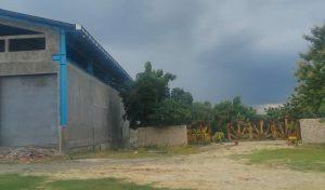 Rencana lokasi pabrik gula di Desa Kemadu Kecamatan Sulang, tampak pagar depan.