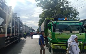 Suasana TKP pasca kecelakaan lalu lintas, Senin (24/02).