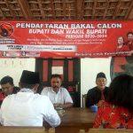 Penjaringan bakal calon Bupati dan Wakil Bupati yang dibuka DPC PDI Perjuangan Kabupaten Rembang.