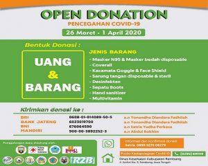 Penggalangan dana untuk pengadaan alat pelindung diri (APD) tim medis di Kabupaten Rembang.
