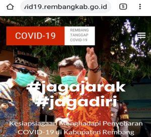 Website kesiapsiagaan corona yang diluncurkan Pemkab Rembang.